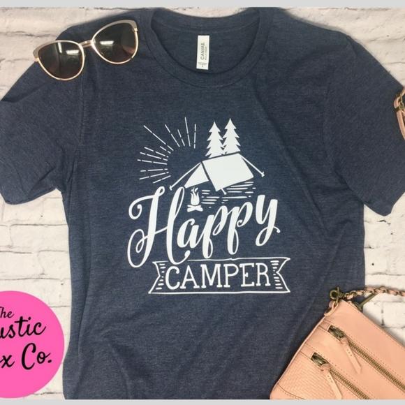 4fcdbebe Bella Brand - Stylish Unisex Tee Tops | Happy Camper Shirt Happy ...